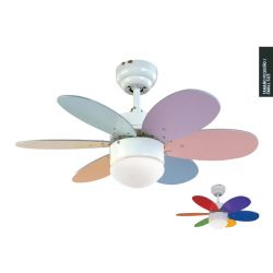Ceiling Fan With Light RAINBOW COLOUR Sulion