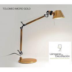 Lámpara Mesa TOLOMEO MICRO GOLD Artemide